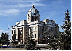 Foster County Courthouse in Carrington, ND...